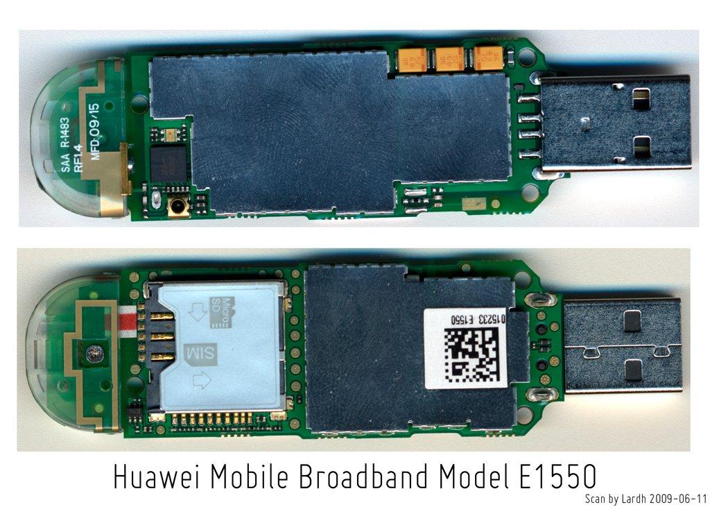 Huawei E1550 внутри
