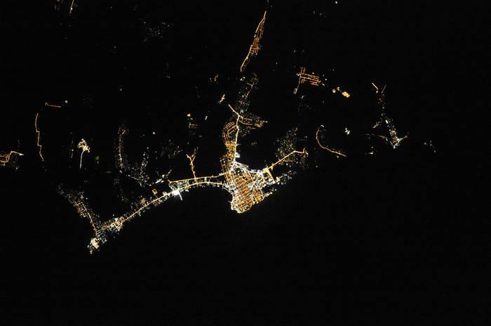 Анапа ночью из космоса