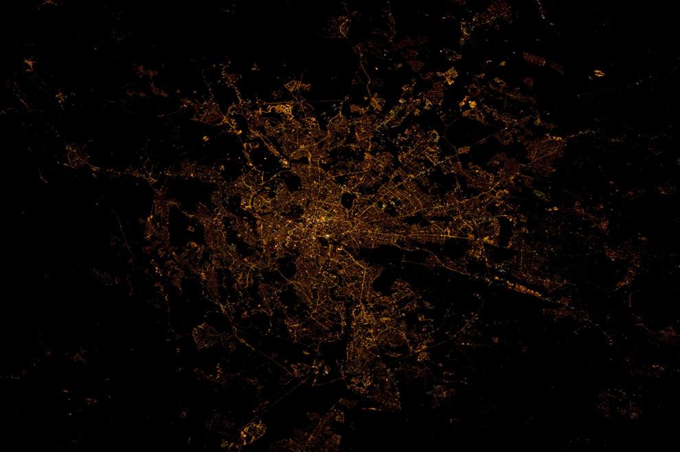 Рим ночью из космоса