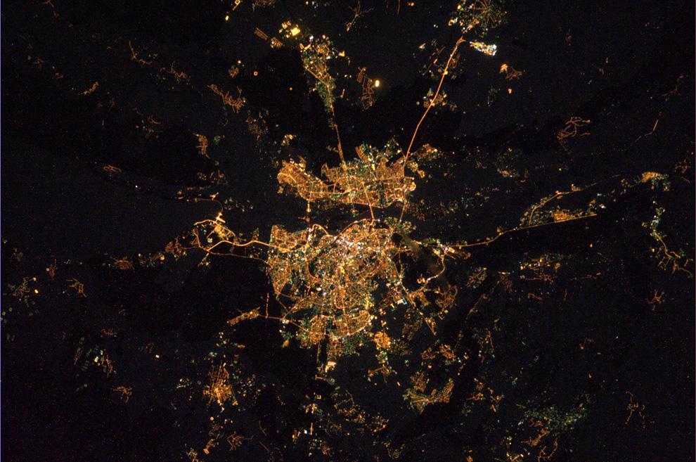 Киев ночью из космоса