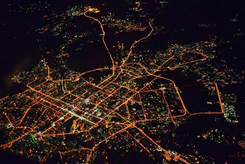 Екатеринбург ночью из космоса