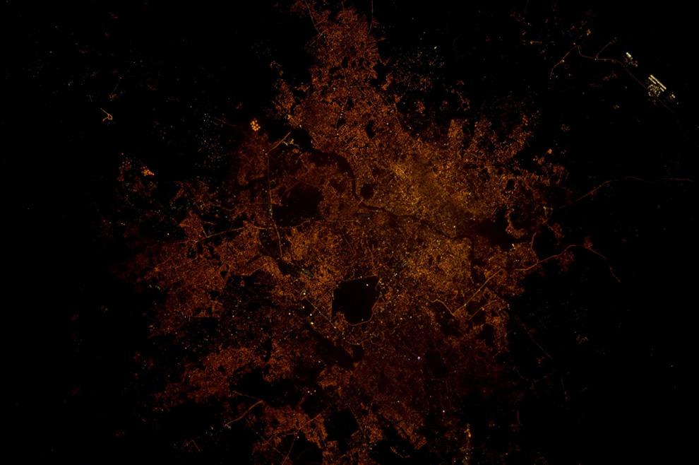 Хайдарабад ночью из космоса