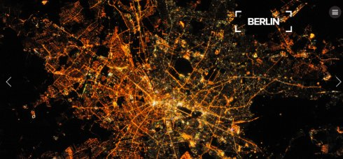 Берлин ночью из космоса