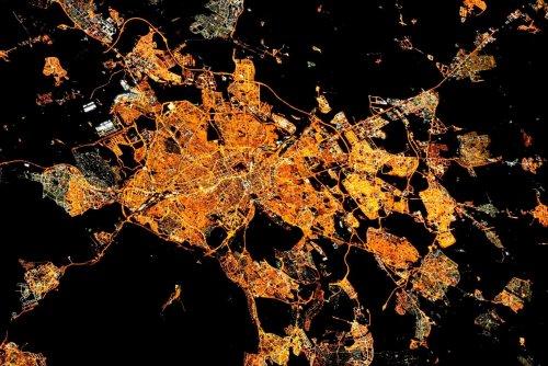 Мадрид ночью из космоса