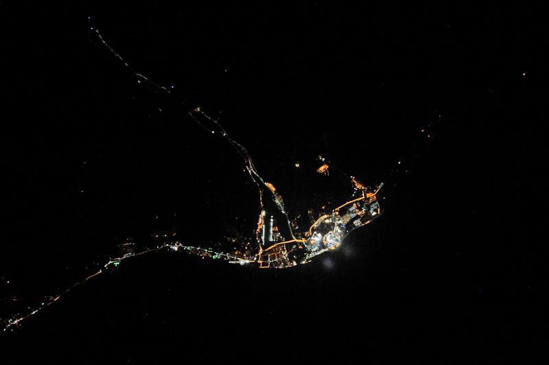 Сочи ночью из космоса